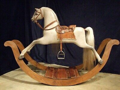 Large Antique Bow Rocking Horse C1820-40. • 4,300£