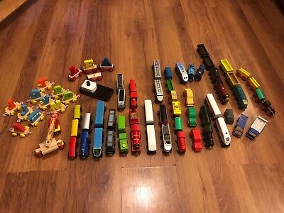 Cheap Trains (some Just £1/£2!) For Brio / Wooden Train Track With Combined Post • 3£