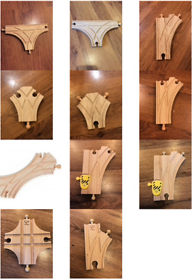 Wooden Train Track Junctions - Brio, Bigjigs & Other Brands (postage Offer) • 3.45£