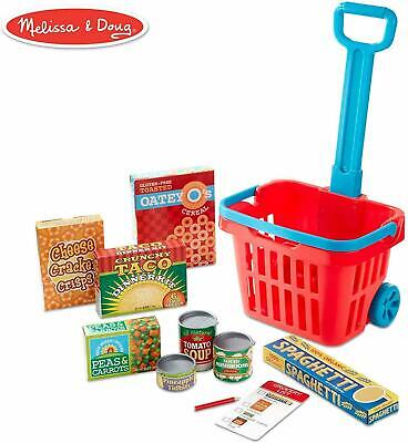 Grocery Basket Play Set Kids Toy Gift Set Fill & Roll Play Food Melissa & Doug  • 22.99£