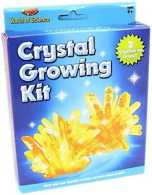 World Of Science Crystal Growing Kit - Grow 4 Crystals Experiment Toy Play Set • 4.69£