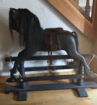 Gorgeous Old Wooden Rocking Horse • 395£