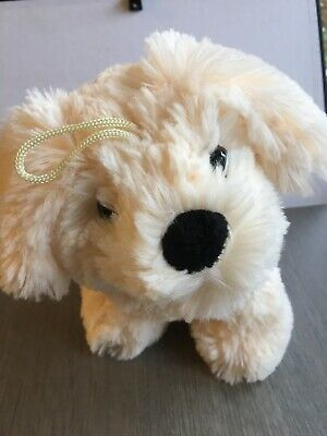 Soft Toy DOG Cream 9  With Hanging Loop  • 7.99£