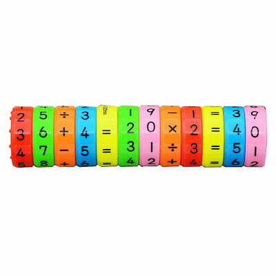 6pcs Magnet Math Counting Game Kids Educational Learning Numbers Toys Arithmetic • 4.99£