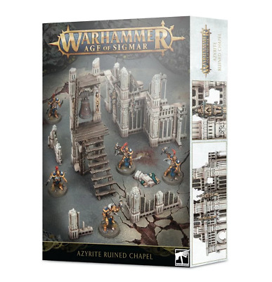 AGE OF SIGMAR: AZYRITE RUINED CHAPEL Games Workshop 20% Off UK Rrp • 28£