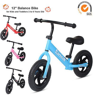 Kids Balance Bike Walker Toddler Training Bicycle Toys Adjustable Seat No Pedal • 27.96£