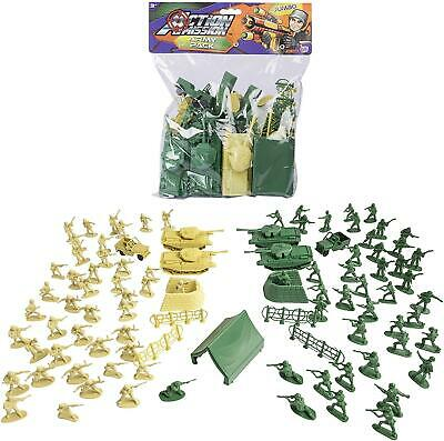 Jumbo Plastic Toy Soldiers Set Childrens Toys Army Battle Figure Pack Large Bag • 6.99£