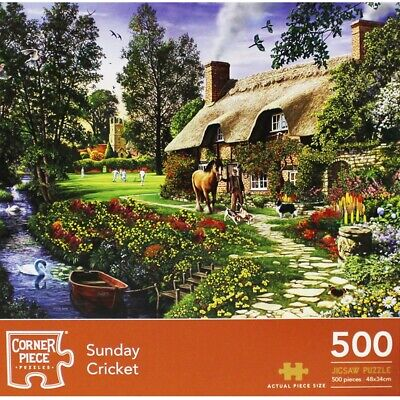 Sunday Cricket 500 Piece Jigsaw Puzzle, Toys & Games, Brand New • 7£