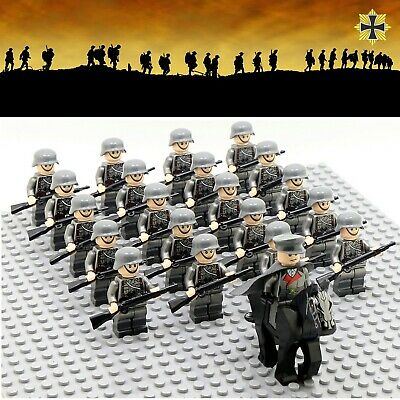 21pcs WWII Germany US British Japan Army Soldiers Minifigures Military Fit Lego  • 23.99£