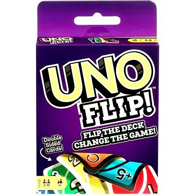 UNO FLIP CARD GAME Great Family Fun For Children Friend Travel Party UK Seller  • 3.99£