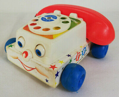 Vintage Fisher Price Phone Telephone Kids Toy Car 1961 • 9.99£