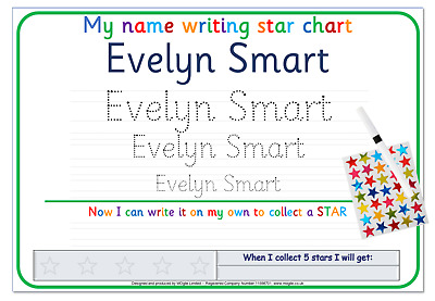Write Name Eyfs Home Learning Writing Learn Alphabet Letters Numbers Words • 3.25£