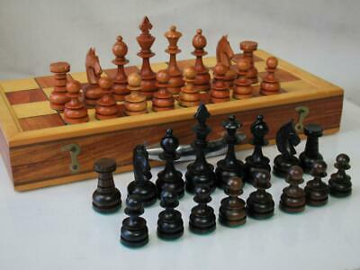 VINTAGE CHESS SET  PHILIPPINES STAUNTON  K 83 Mm AND ORIGINAL BOX  BOARD • 99.99£