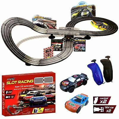 Electric Remote Control Slot Car Racing Track Set Childrens Toy Race Game JJ89 • 19.99£