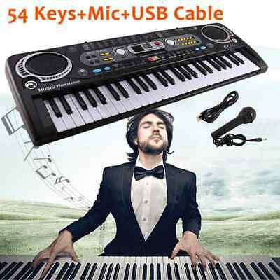 Musical Keyboard Piano 54 Keys Electronic Electric Digital Beginner Adult Set • 12.19£