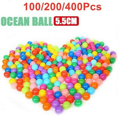1-400 Ball Pit Balls Play Kids Plastic Baby Ocean Soft Toy Colourful Playpen Fun • 7.99£