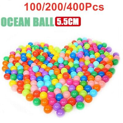 1-400 Ball Pit Balls Play Kids Plastic Baby Ocean Soft Toy Colourful Playpen Fun • 6.99£