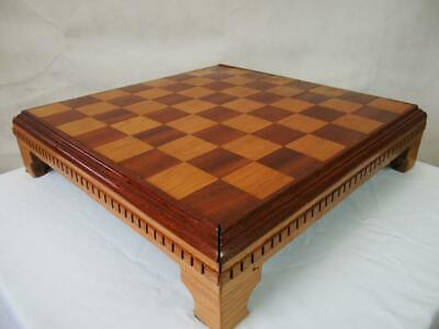 VINTAGE LARGE CHESS  BOARD 18.25 Inches SQUARES OF 53 Mm NO PIECES • 99£