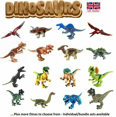 Jurassic World Dinosaur Mini Figures Fit Big Brand Building Blocks T-rex UK Sell • 13.99£