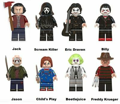 Halloween Horror Film Mini Figures Building Toys UK Seller • 14.99£