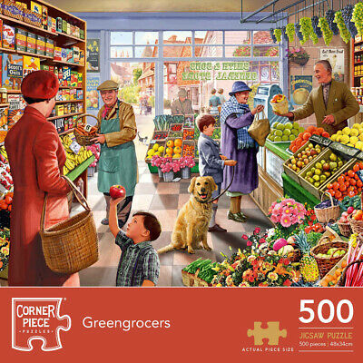 Greengrocers 500 Piece Jigsaw Puzzle, Toys & Games, Brand New • 7£