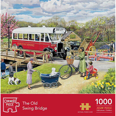 Old Swing Bridge 1000 Piece Jigsaw Puzzle, Toys & Games, Brand New • 9£