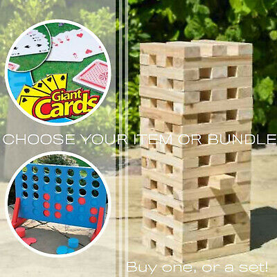 Outdoor Games: Choose Jenga Tower Blocks, Connect 4 Or Card Summer Garden Kids • 21.49£