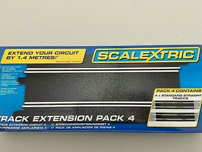 Scalextric C8526 Track Extension Pack 4  4 Standard Straights NEW  • 21.95£