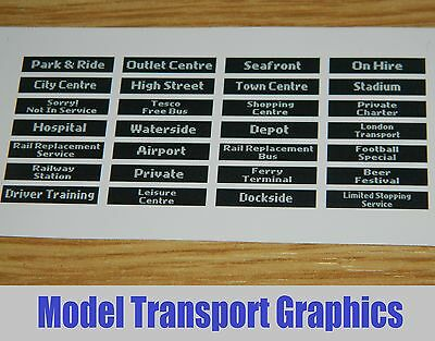 Digital Destination Displays Bus Blinds Self Adhesive 1/76 Corgi & UKBUS Models • 5.95£