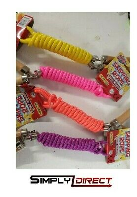 Traditional Childrens Skipping Rope, Wooden, Cute Animal Or Neon Handle 200cm • 3.99£