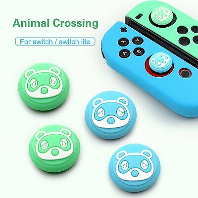 4PCS Joycon Joystick Thumb Grips Cap Cover For Animal Crossing Switch Console • 3.78£