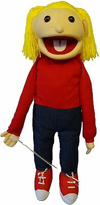 Girl Puppet Katie 26  Vent,Educational.Moving Mouth And Arm Rod • 36£