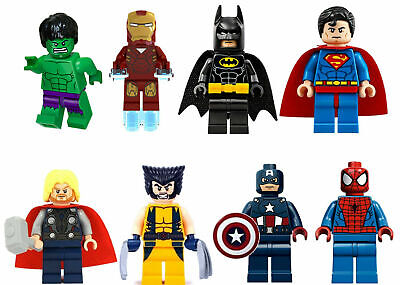 8 Pcs Marvel Avenger Super Heroes Fit Lego Mini Figure Thor Hulk Batman Superman • 8.99£