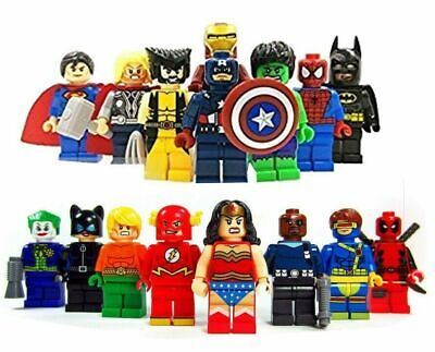 Marvel Avenger Super Heroes Fit Lego Mini Figure Thor Hulk Batman Superman • 14.99£