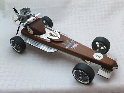 Rare Vintage Gas Powered F1 Model Tether Car With Enya Engine. Propeller Driven. • 595£