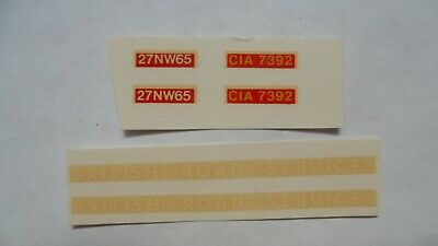 Dinky 914 AEC British Road Services BRS Decals. Repro Waterslide Transfers. • 2.25£