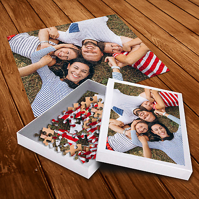 Personalised Photo Jigsaw Puzzle With Customised Box - Kids Family Picture Gift  • 11.95£