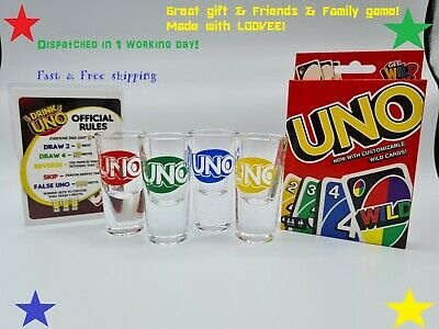 UNO Drinking Game ⭐  Drunk Uno ⭐ Night In Party Fun ⭐ Card Game - FAST DELIVERY! • 14.99£