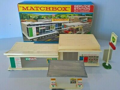 RARE Issued 1968  LESNEY / MATCHBOX MG 1  BP Service Station In Its Original Box • 84.95£