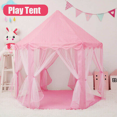 Outdoor Hexagon Playhouse Girls Princess Castle Children Kids Indoor Play Tent • 26.99£