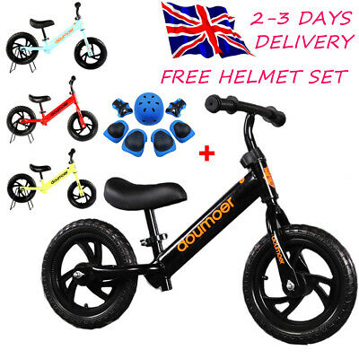 12  Kids Children Balance Bike Boys Girls Metal Running Walking Training Bicycle • 33.88£