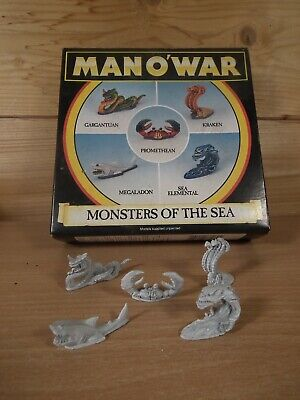 Classic Metal Man O War Warhammer Monsters Of The Deep Base Painted Complete Set • 50£