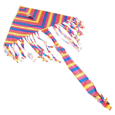 RAINBOW WIDE WINGSPAN KITE With LINE And HANDLE Childrens Flying Toy  • 5.49£