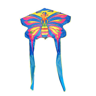 WIDE WINGSPAN KITE With LINE And HANDLE Childrens Flying Toy • 5.99£