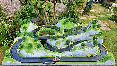 Micro Scalextric Jurassic Pass Raceway Slot Car Layout Delivery Possible • 200£