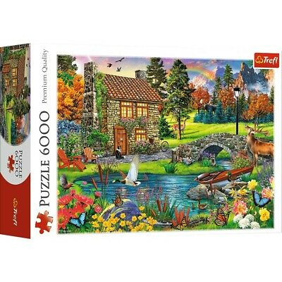 Cottage In The Mountains 6000 Piece Jigsaw Puzzle, Toys & Games, Brand New • 30£