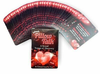 Intimate Pillow Talk Sexual Playing Card Game Romantic Sexy Couples Naughty Gift • 4.75£