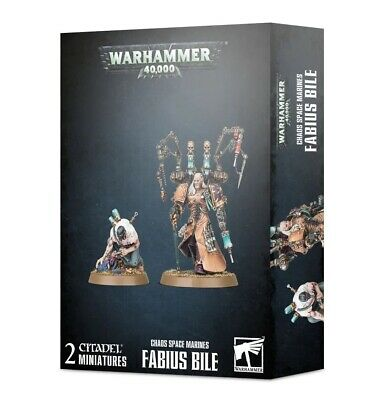 CHAOS SPACE MARINES: FABIUS BILE Games Workshop 20% Off Uk Rrp • 20£