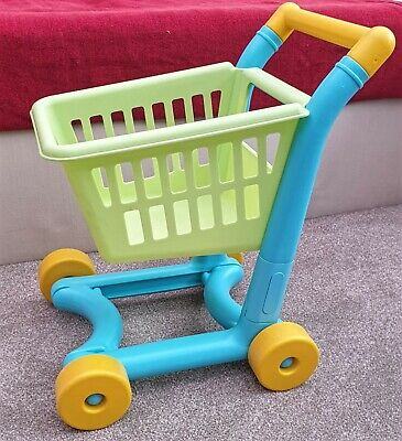 Toddler Toy Shopping Trolley, Yellow, Green And Blue • 0.99£