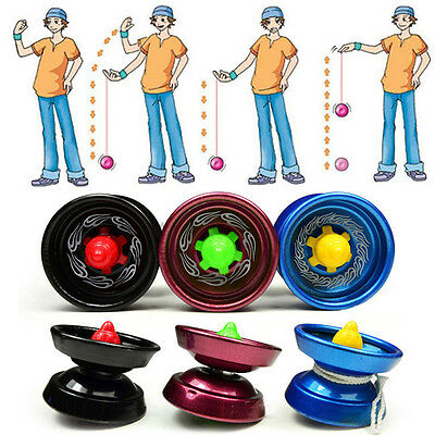 Cool Aluminum Design Professional YoYo Ball Bearing String Trick Alloy Kid  EJ • 3.97£